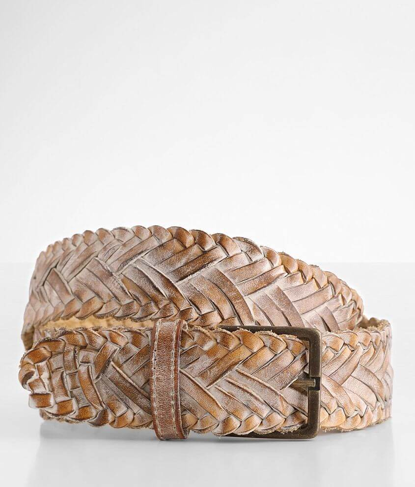 Bed Stu Proem Braided Leather Belt front view