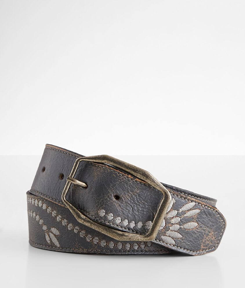 Bed Stu Mohawk Embroidered Leather Belt front view