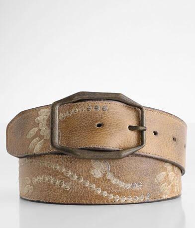 Bed Stu Mohawk Embroidered Leather Belt