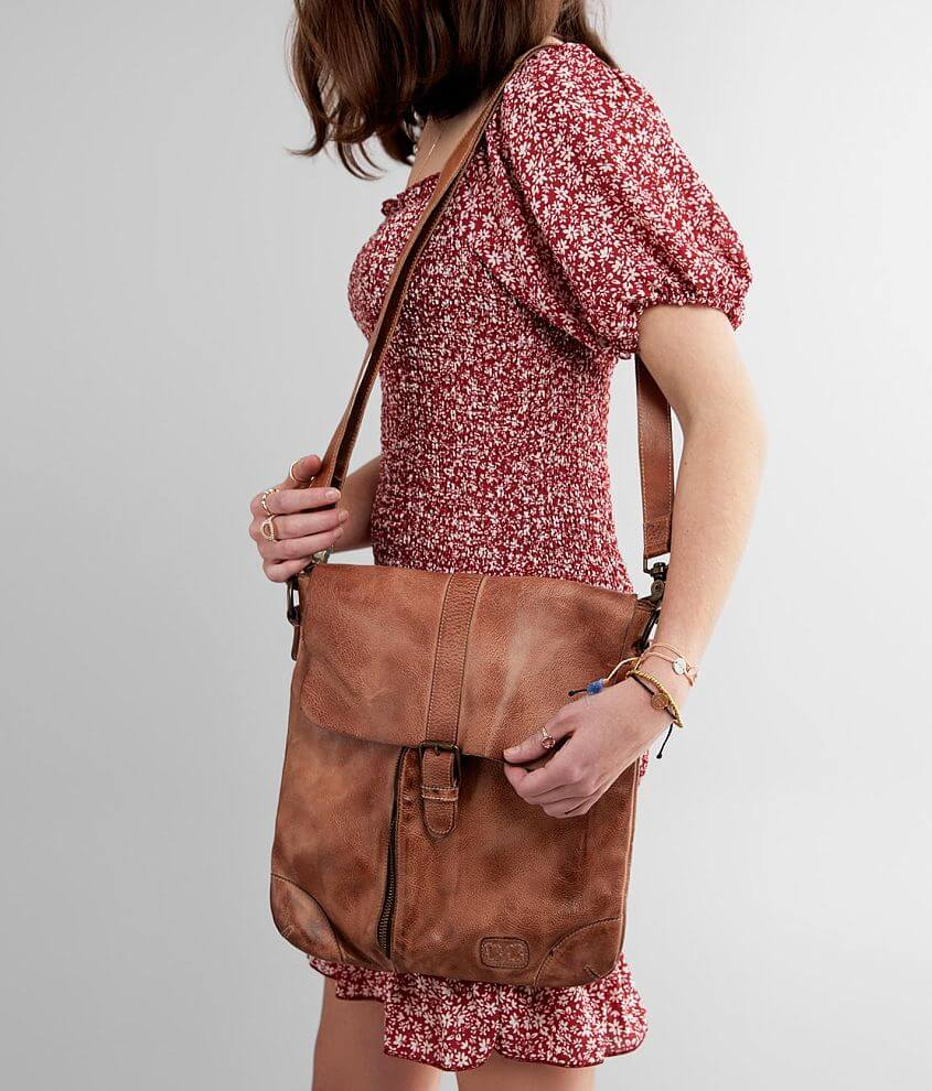 Bed Stu Jack Leather Crossbody Purse front view