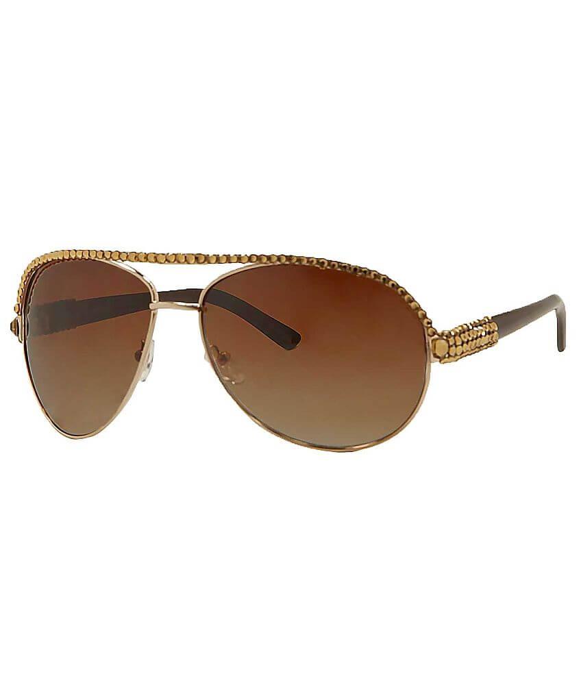 5b821376f64 BKE Rhinestone Aviator Sunglasses - Women s Accessories in Gold