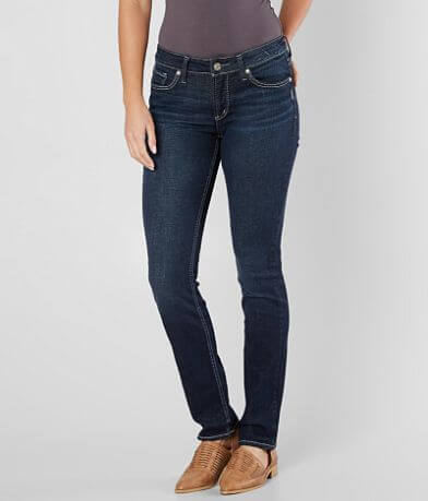 Silver Elyse Straight Stretch Jean