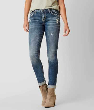 Silver Girlfriend Skinny Stretch Jean