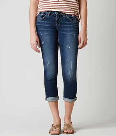 Silver Suki Stretch Cropped Jean