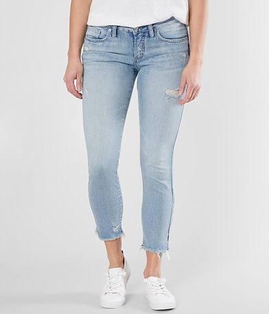 Silver Suki Ankle Skinny Cropped Stretch Jean