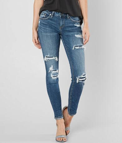 Silver Aiko Skinny Stretch Jean