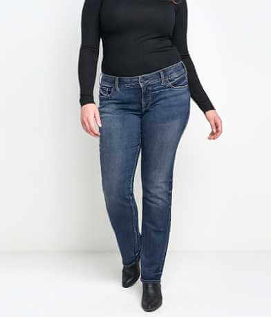 Silver Suki Straight Stretch Jean - Plus Size Only