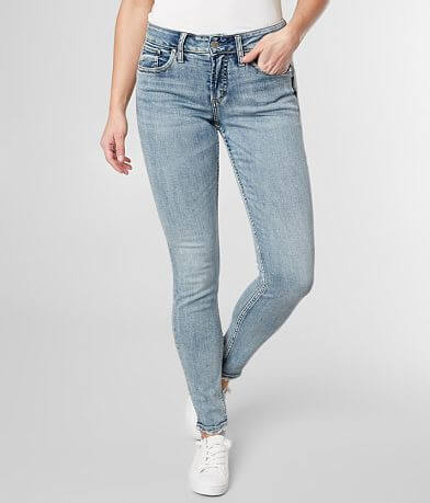 Silver Avery Skinny Stretch Jean