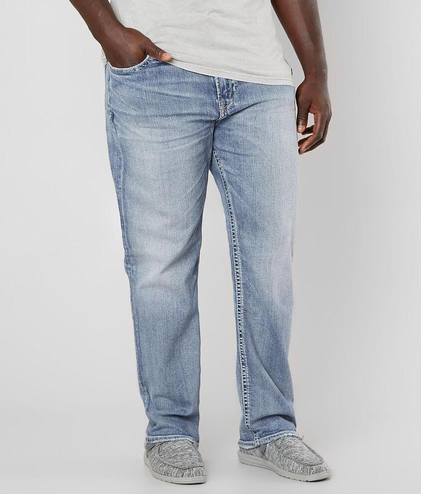 Big & Tall - Silver Eddie Taper Stretch Jean front view