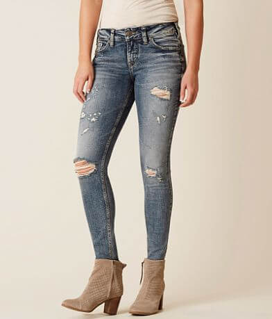 Silver Elyse Skinny Stretch Jean