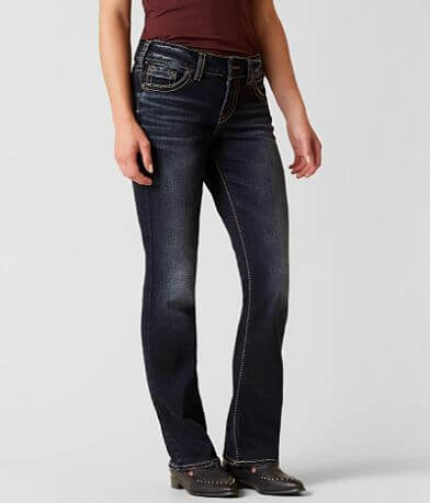 Silver Elyse Slim Boot Stretch Jean