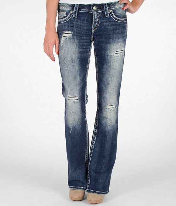 Silver Pioneer Stretch Jean - Women's Jeans in SJB398 | Buckle