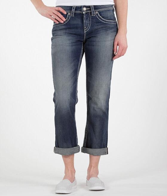 Silver Natsuki Stretch Cropped Jean - Women's Crops/Capris in SJB ...