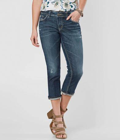 Silver Elyse Stretch Cropped Jean