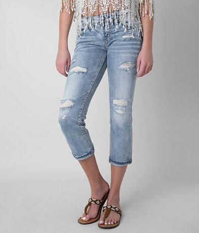 Silver Aiko Stretch Cropped Jean