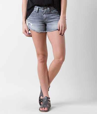 Silver Aiko Skinny Stretch Short