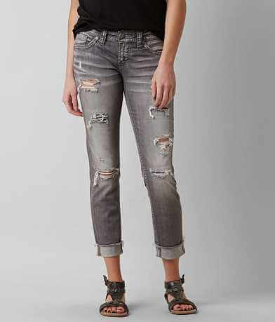 Silver Aiko Stretch Cropped Jean