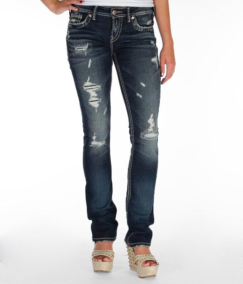 Silver Aiko Baby Boot Stretch Jean - Women's Jeans in SJB354   Buckle