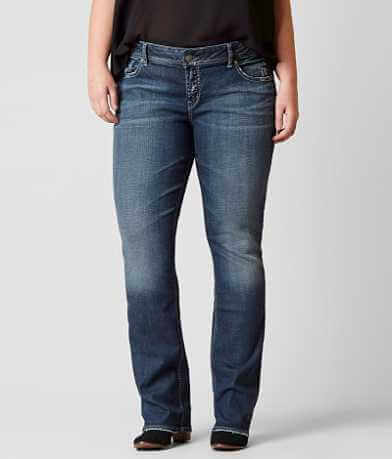 Silver Elyse Straight Jean - Plus Size Only