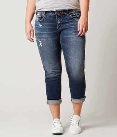 Silver Sam Boyfriend Cropped Jean - Plus Size Only