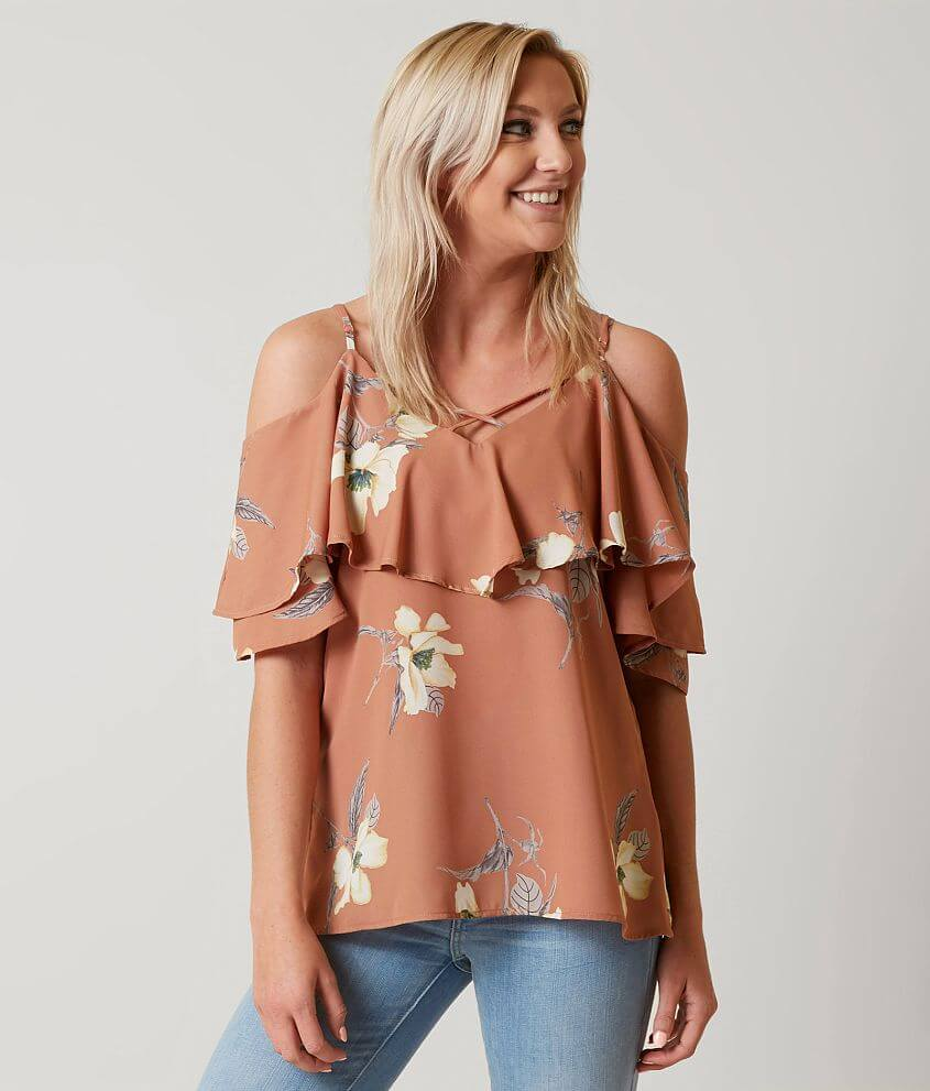 West Kei Floral Top front view