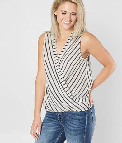 Daytrip High Low Surplice Tank Top