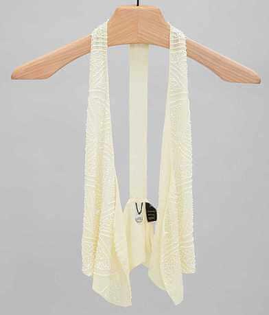 BKE Boutique Chiffon Vest