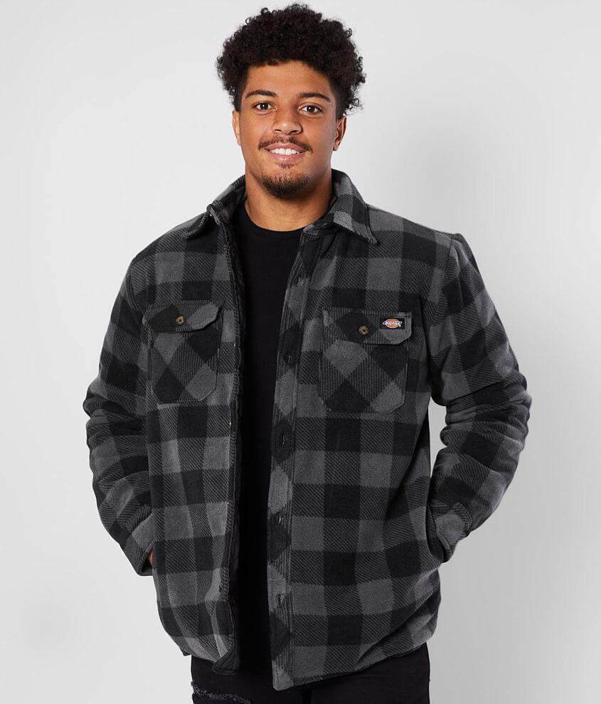Dickies® Micro Fleece Shirt Jacket front view