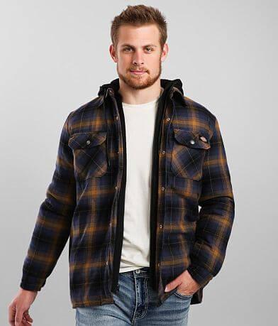 Dickies® Hooded Flannel Shacket