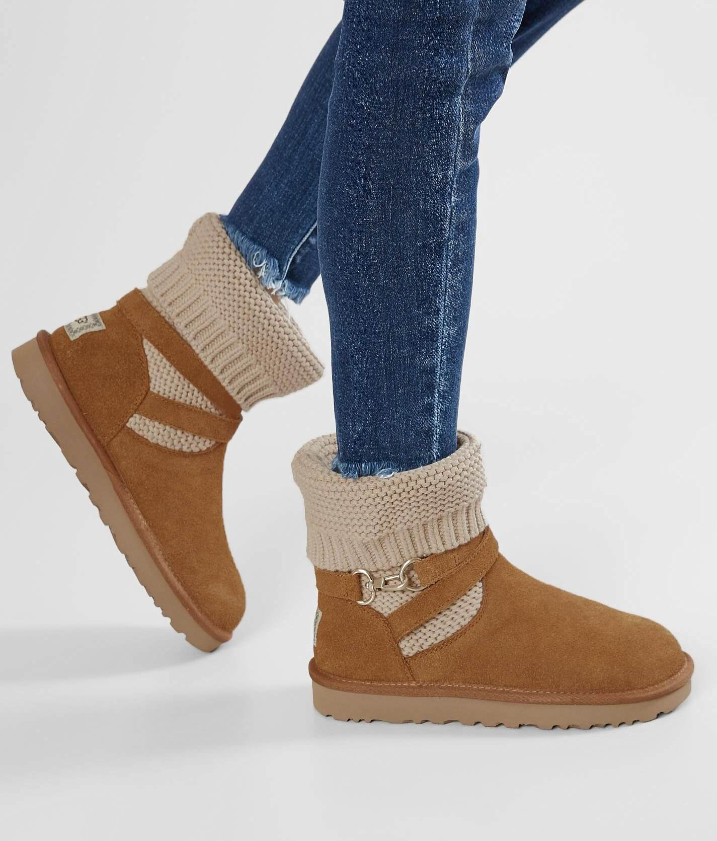Womens Ugg Boots Shoes Buckle