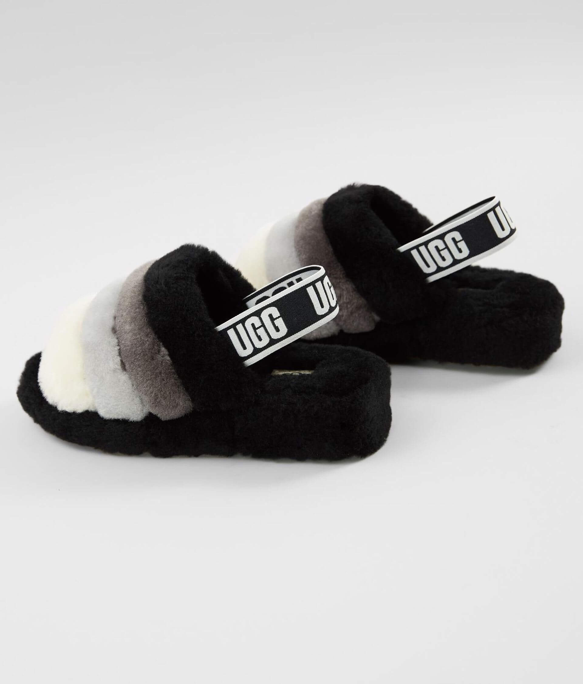 abf261807fb UGG® Fluff Yeah Slide - Women's Shoes in Black Multi | Buckle