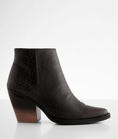 Very G 2 Tone Snake Print Ankle Boot