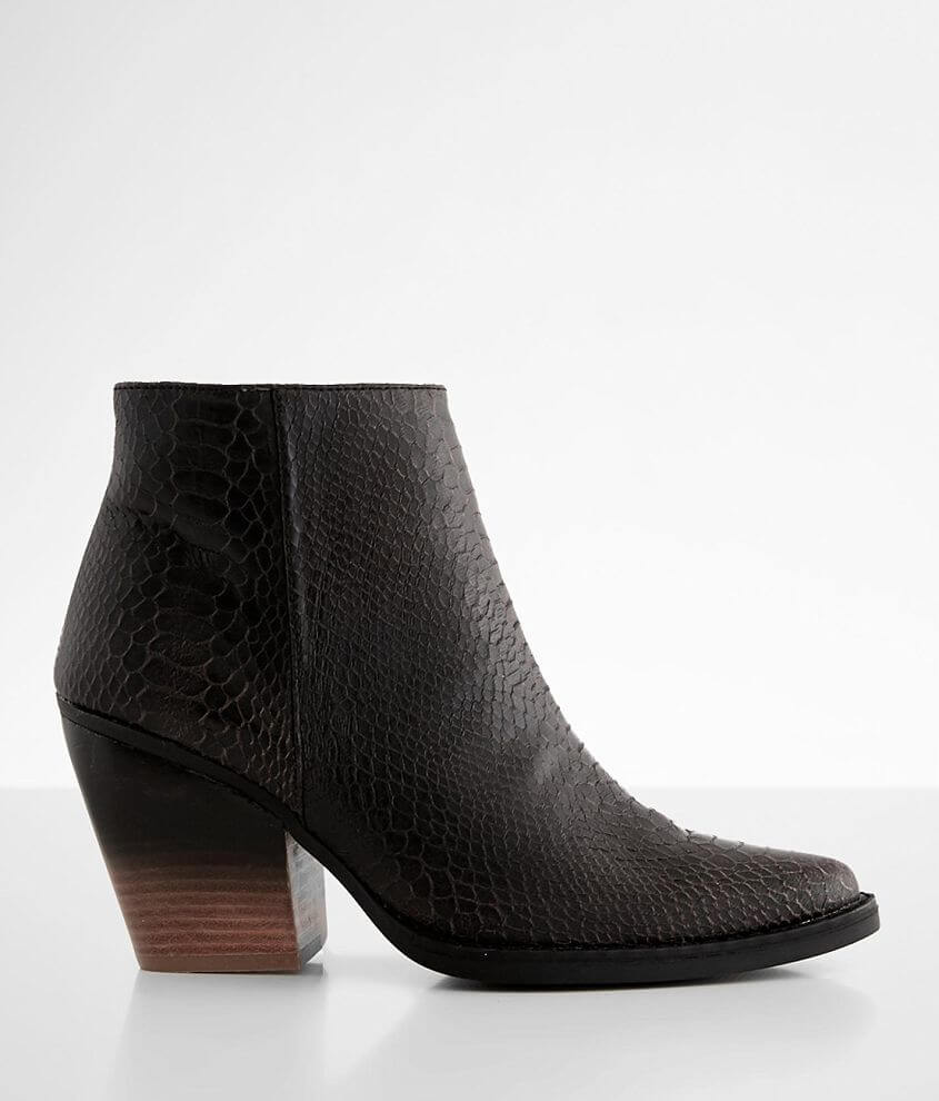 Very G 2 Tone Snake Print Ankle Boot front view