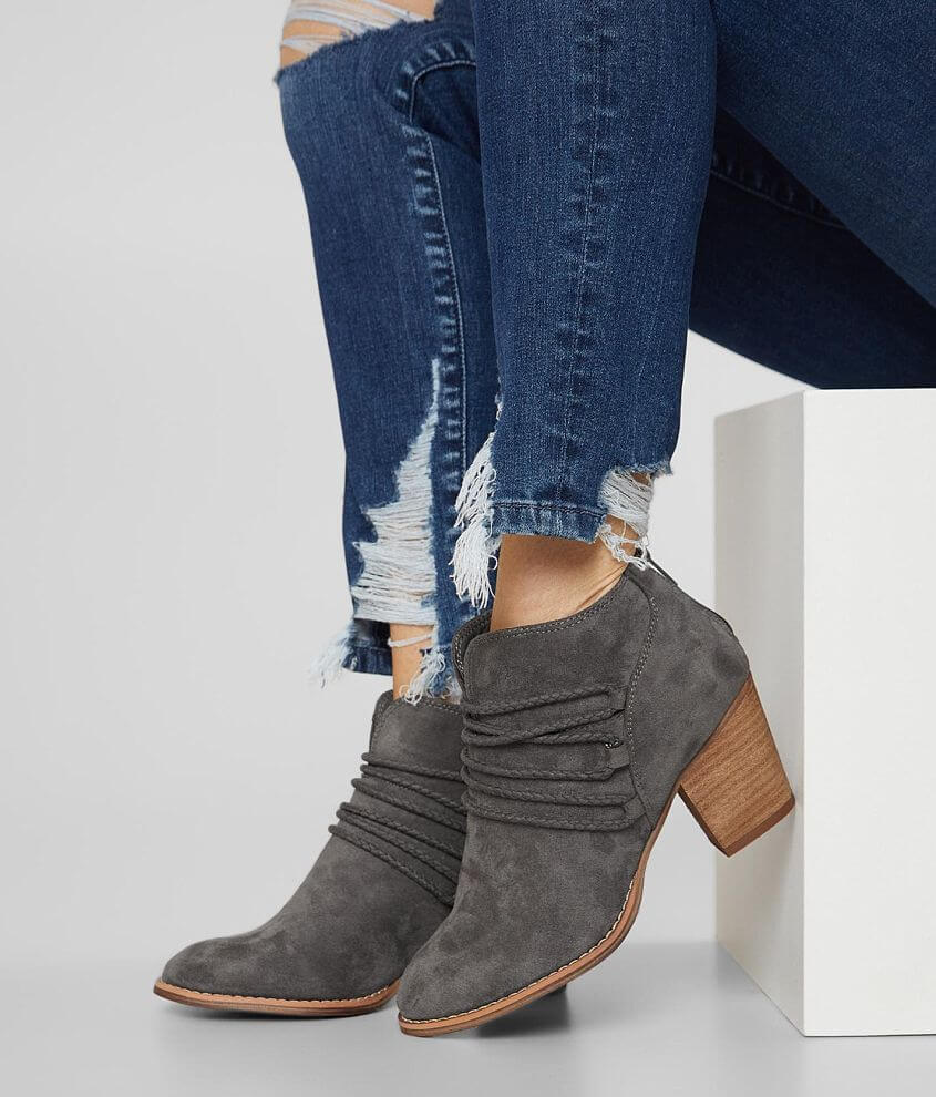 Very G Havana Faux Suede Ankle Boot front view