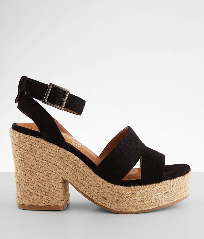 Very G Jade Jute Heeled Sandal front view