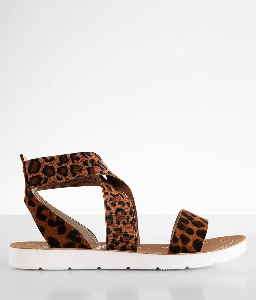 Very G Misty Leopard Print Sandal front view