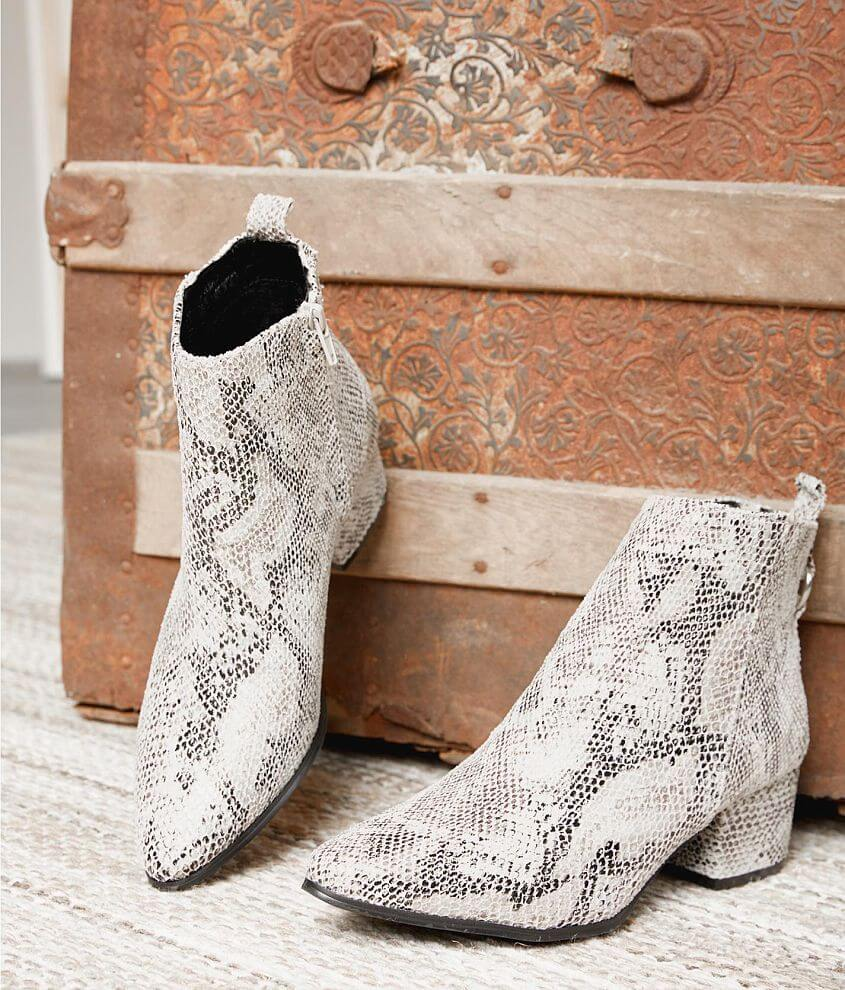 78128654aea Gimmicks Faux Snakeskin Ankle Boot - Women's Shoes in White | Buckle