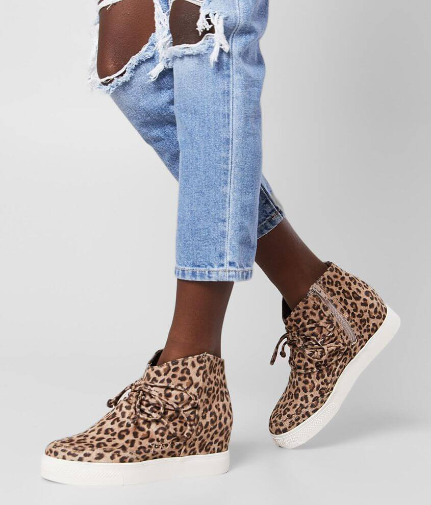 Very G Leopard Wedge Shoe front view