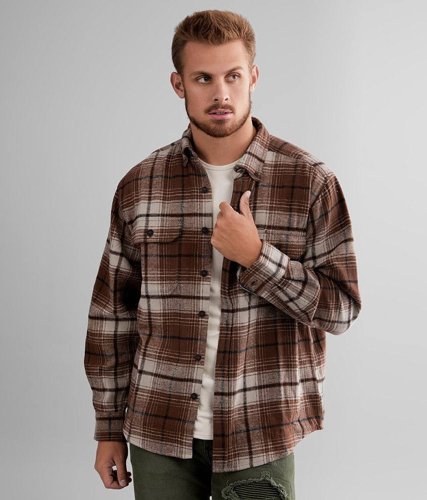 Wolverine Glacier Heavyweight Flannel Shirt front view