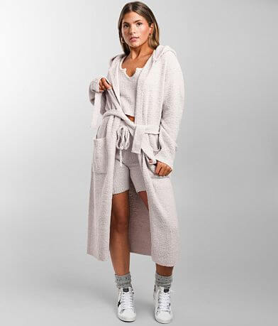 NIA Sweater Knit Hooded Duster Cardigan