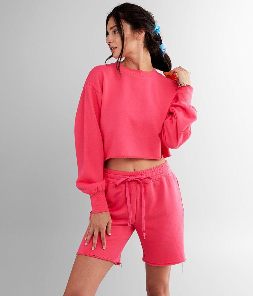 NIA Elle Cropped Pullover Sweatshirt front view