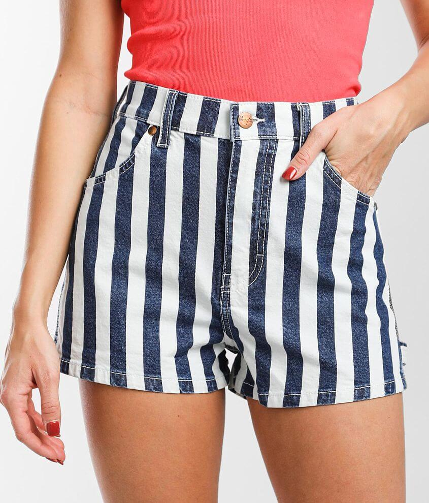 Wrangler® Carpenter Striped Stretch Short front view