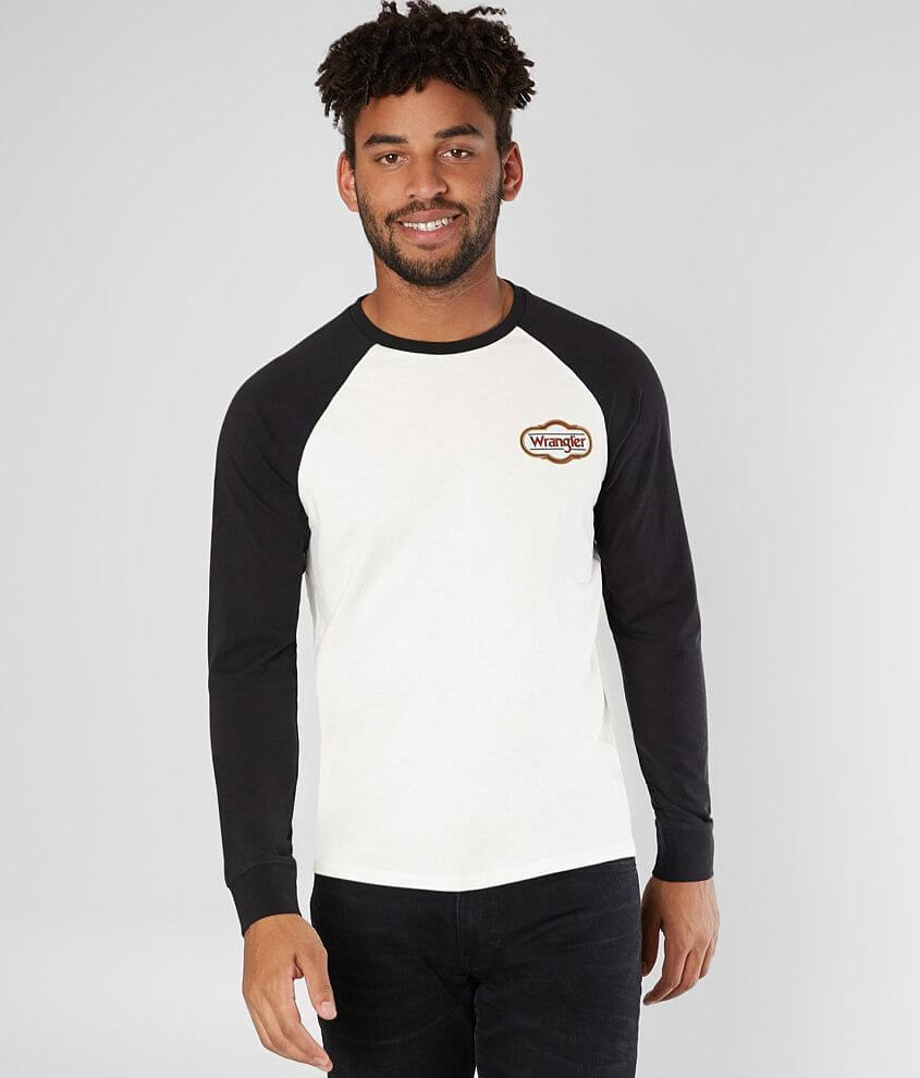d661c3ad0 Wrangler® Raglan T-Shirt - Men's T-Shirts in Off White | Buckle