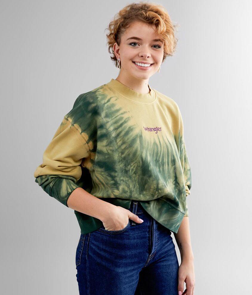 Wrangler® Washed Tie Dye Sweatshirt front view