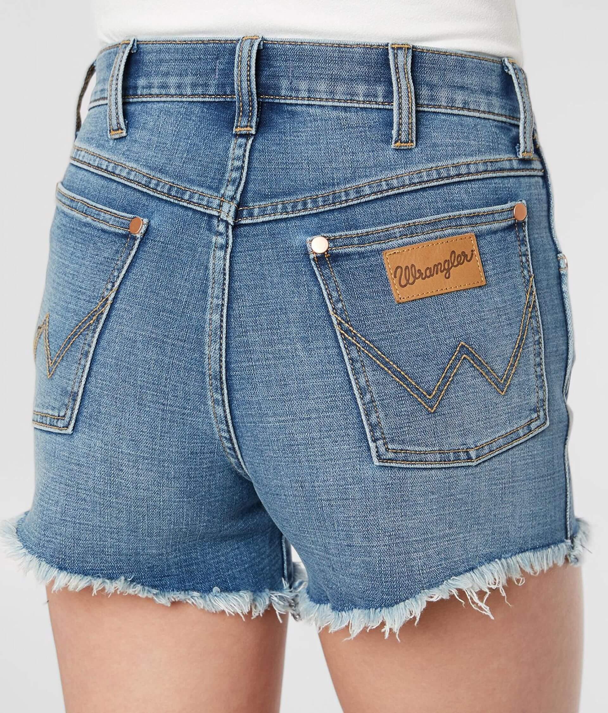 142386fa Wrangler® Cut-Off Denim Stretch Short - Women's Shorts in Texas   Buckle
