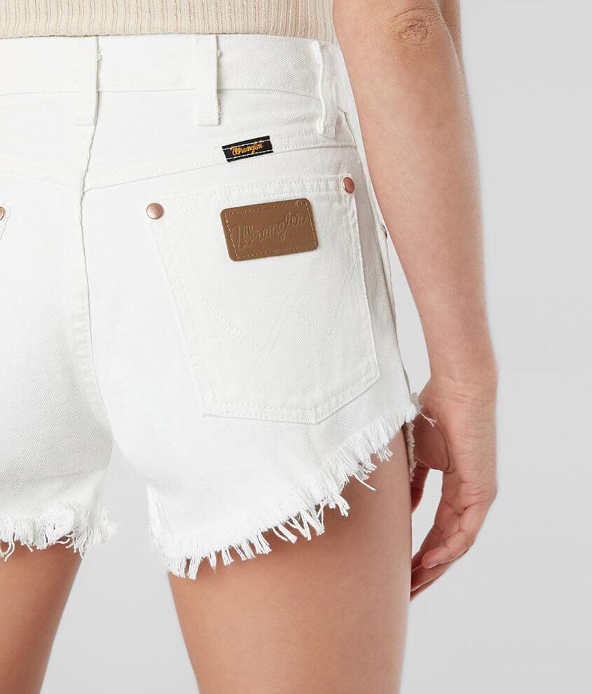 576f4fae Wrangler® Reworked Cut-Off Denim Short - Women's Shorts in White ...