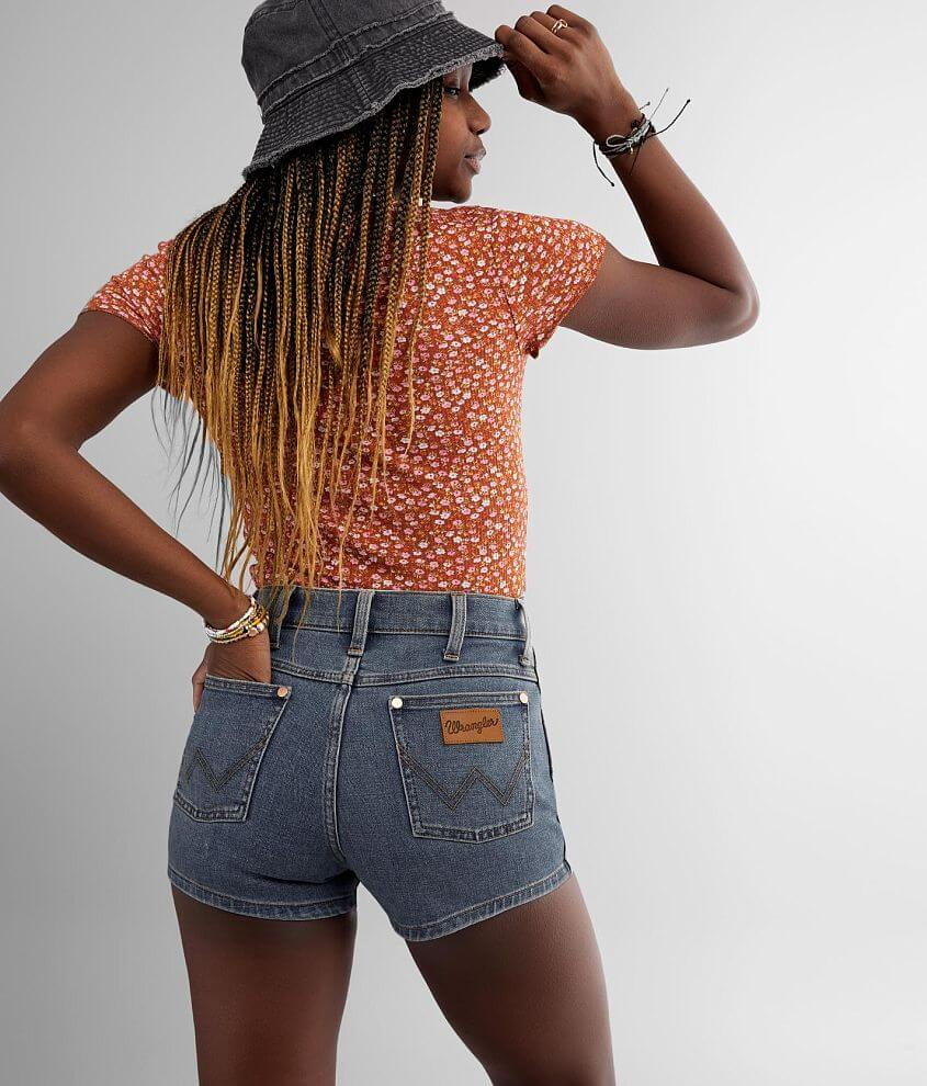 Wrangler® High Rise Pin Up Stretch Short front view