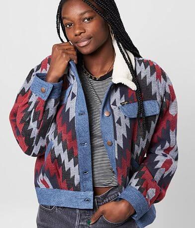 Wrangler® Southwestern Print Denim Jacket