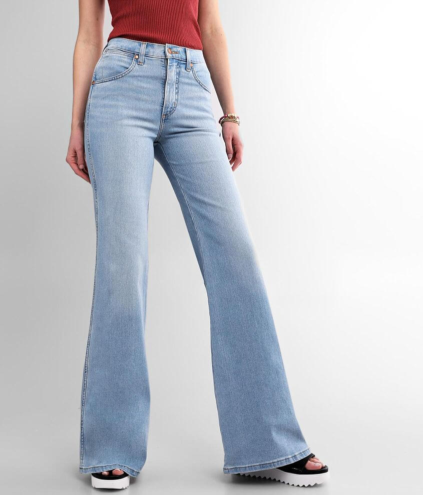 Wrangler® Fly High Rise Flare Stretch Jean front view