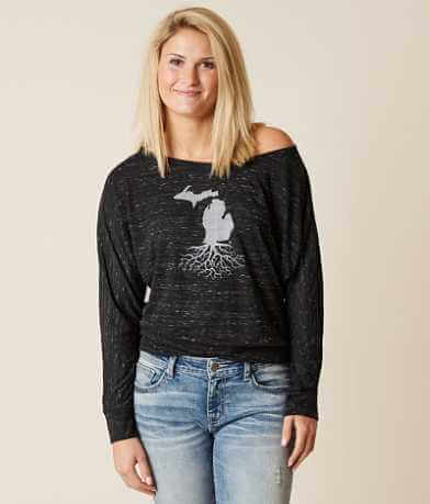 WYR Michigan Roots Off The Shoulder Top